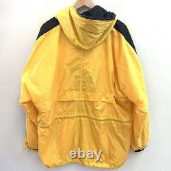 Vintage 90s Polo Sport Ralph Lauren Yellow Spell Out Jacket Mens Large