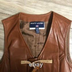 Vintage 90s Ralph Lauren Polo Sport Sample Womens Leather Dress