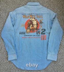Vintage 90s Ralph Lauren Wild Wild West Show Denim Shirt Indian Sport Polo Ski