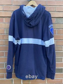 Vintage 90s Rare Polo Ralph Lauren Ski Patrol Patched Hooded Sweatshirt Large