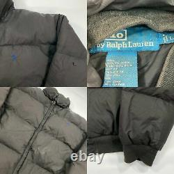 Vintage Black Polo Ralph Lauren Puffer Jacket (L)
