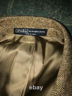 Vintage Men's Polo Ralph Lauren Tweed Blazer Jacket Size 40