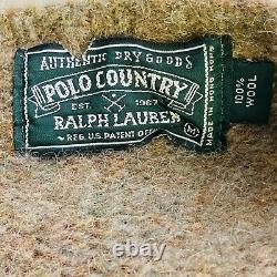 Vintage Mens M Polo Country Sportsman Green Wool Sweater Fishing Ralph Lauren