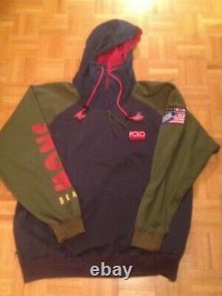 Vintage POLO Ralph Lauren Snow Beach Pullover Jacket 1992 XL Ski Stadium Hoodie