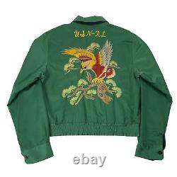 Vintage Polo By Ralph Lauren Embroidered Reversible Sukajan Jacket Sz M 1960's