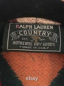 Vintage Polo Country Ralph Lauren Men Wool Southwestern Western Aztec Robe/Coat