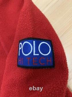 Vintage Polo Hi Tech Fleece Anorack Jacket 1992 Snow Beach M Ralph Lauren