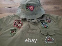 Vintage Polo Mountain Expedition Patch Rugby Large Ralph Lauren Climb Sports 92