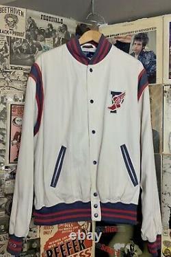 Vintage Polo Ralph Lauren 1992 Stadium P Wing Letterman Bomber Jacket OG Sz L