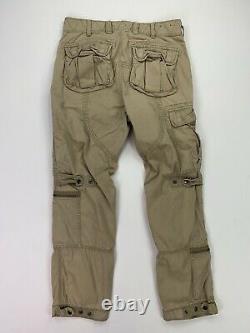 Vintage Polo Ralph Lauren (31x30) Military Paratrooper Pilot Khaki Cargo Pant