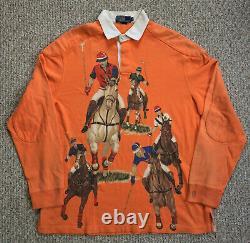 Vintage Polo Ralph Lauren 5 Horsemen Rugby Bear Ski Wing USA Sport