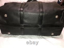 Vintage Polo Ralph Lauren Black duffle bag Leather Carry On