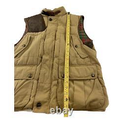 Vintage Polo Ralph Lauren Brown Corduroy Vest RRL Down Hunting Leather Large