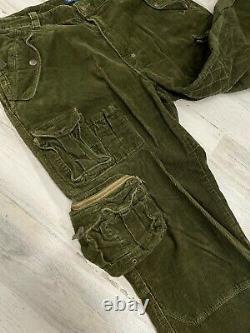 Vintage Polo Ralph Lauren Cargo Military Pants 38x32 Green Paratroop Fatigue