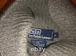 Vintage Polo Ralph Lauren Cashmere Bear sz L 92 93 Stadium Ski Pwing RARE