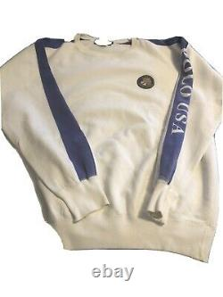 Vintage Polo Ralph Lauren Cookie Sweatshirt Medium USA Suicide 88 92 93 Stadium