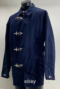 Vintage Polo Ralph Lauren Cotton Blue Fireman Jacket Coat Mens XL