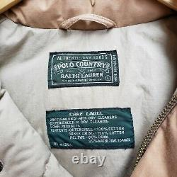 Vintage Polo Ralph Lauren Country Aztec Navajo Puffer Jacket Large sportsman 90s