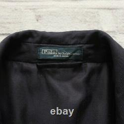 Vintage Polo Ralph Lauren Crest Logo Linen Blazer Coat Jacket Size 44 R Italy