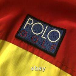 Vintage Polo Ralph Lauren Hi-tech Golf Flamethrower Hooded Windbreaker Jacket