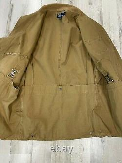 Vintage Polo Ralph Lauren Hunting Utility Jacket Size M with Corduroy Collar