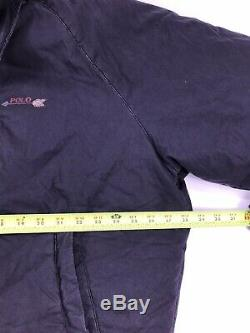 Vintage Polo Ralph Lauren Indian Head Mens Jacket Bear Ski 92 Stadium P Wing L