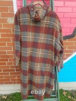 Vintage Polo Ralph Lauren Jacket Duffle Toggle Wool Peacoat Mens XL Coat Hood