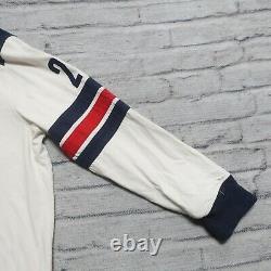 Vintage Polo Ralph Lauren Lake Placid Hockey Jersey Shirt Rugby Size L RL RRLC