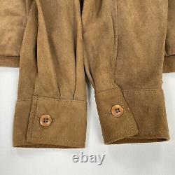 Vintage Polo Ralph Lauren (M) Clay Color Suede Leather Safari Jacket