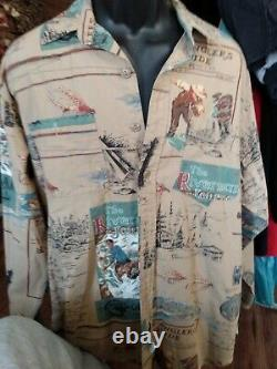 Vintage Polo Ralph Lauren (M) Fly Fishing Sportsman Angler Button Front Shirt