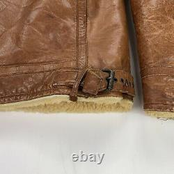 Vintage Polo Ralph Lauren (M) Leather Shearling Lined Bomber Flight Jacket