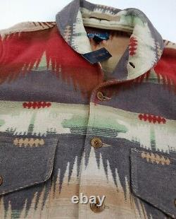 Vintage Polo Ralph Lauren NWT Southwest Aztec Ranch Jacket Rare Limited Country