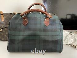 Vintage Polo Ralph Lauren Plaid Blackwatch Tartan Handbag Speedy Doctors Bag
