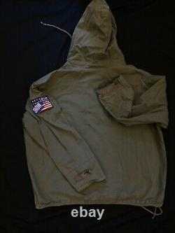 Vintage Polo Ralph Lauren Snow Beach Cold Wave Stadium Army Green Jacket 1992-93