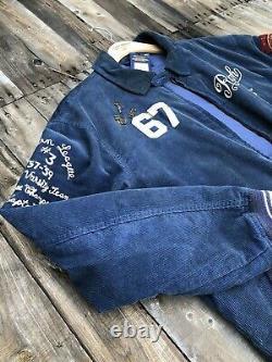 Vintage Polo Ralph Lauren Spartans Varsity Corduroy Jacket Sz L