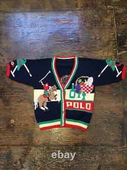 Vintage Polo Ralph Lauren Sweater Sz Medium Equestrian RARE