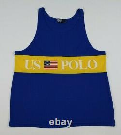 Vintage Polo Ralph Lauren Tank Top 92 US Stadium USA Rare Hi Tech 1992 Sport RL