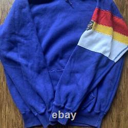 Vintage Polo Ralph Lauren Uni Crest Hoodie Rare 80s USA Stadium Sport Ski US RL