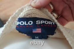 Vintage Polo Ralph Lauren Woman's Polo Bear Golf Sweater Medium Polo Sport M