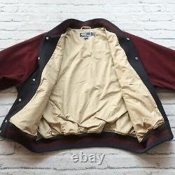 Vintage Polo Ralph Lauren Wool Varisty Jacket Mens Size XL PRL Coat