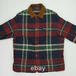 Vintage Polo Ralph Lauren (XL) Plaid Canvas Corduroy Collar Hunting Chore Coat