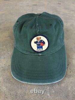 Vintage Polo Sport Ralph Lauren Bear Cap Hat Cookie Patch USA Cap RRL RLX