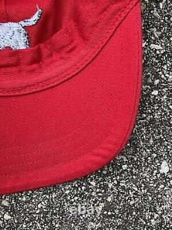 Vintage Polo Sport Ralph Lauren Dog Retriever Baseball Red Hat Strapback Rare