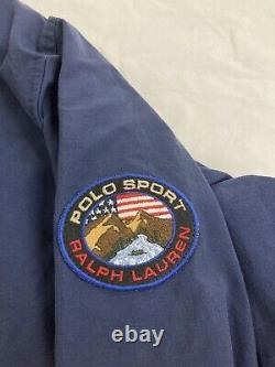 Vintage Polo Sport Ralph Lauren Light Jacket Size XL Blue Orange Mountain Cookie