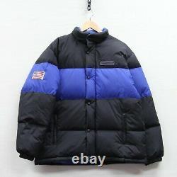 Vintage Polo Sport Ralph Lauren USA Puffer Jacket XL Black Blue Down Insulated
