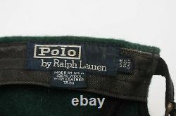 Vintage Polo Sportsman Ralph Lauren Long Extended Bill Wool / Leather Hat Cap