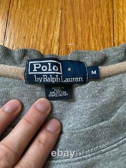 Vintage Polo by Ralph Lauren Teddy Bear USA Basketball Medium sweater GREAT CDN