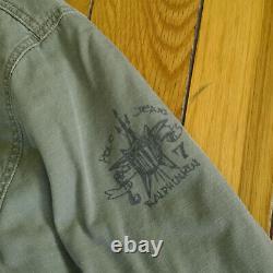 Vintage RALPH LAUREN Mens Blanket Lined M65 Military Field Jungle Jacket M