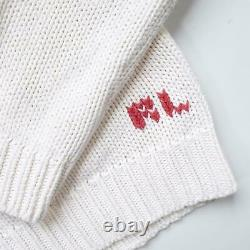 Vintage RARE Polo Ralph Lauren WOMENS Knitted Flag Turtleneck S