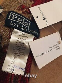 Vintage Ralph Lauren Polo Beacon Navajo Aztec Knit Beanie Indian Sportsman 1992